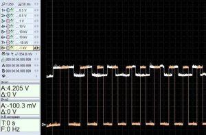 Замер сигналов с помощью осциллографа